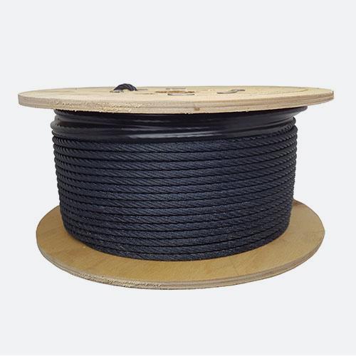 Blackened Steel Wire Rope